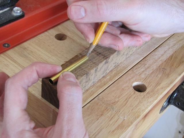 measuring pen blanks for drilling
