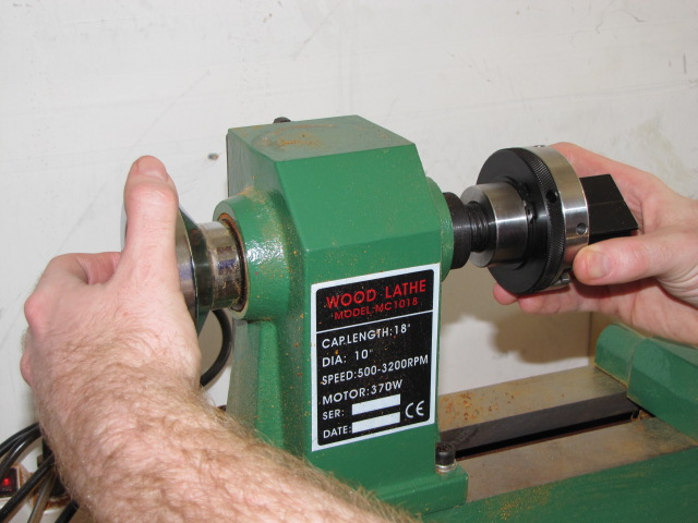 using a dedicated pen blank drilling chuck