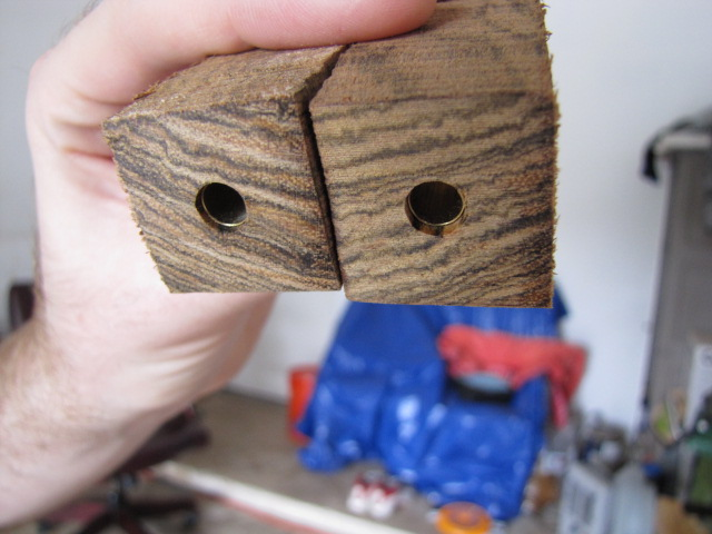 pen blanks before excess is removed with my belt sander