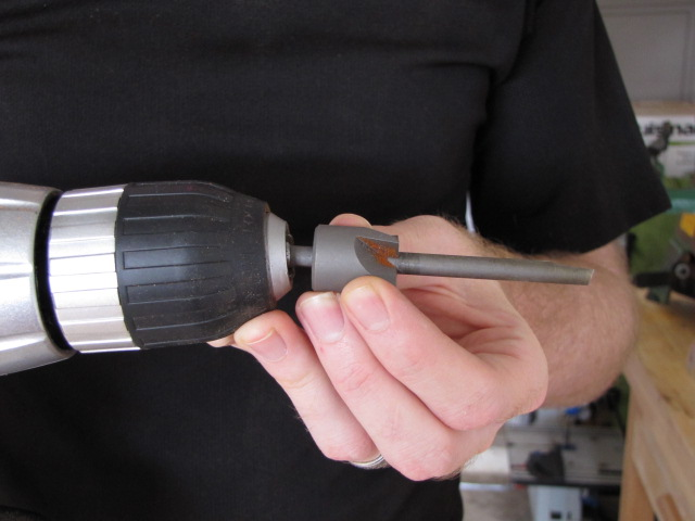 inserting the pen mill into a drill