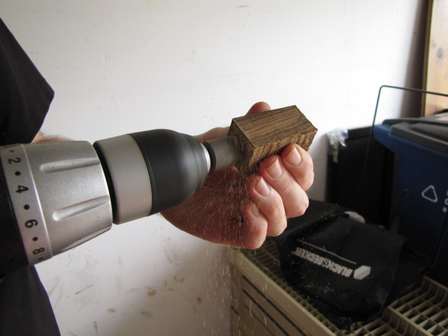 using a pen mill to finish preparing the pen blanks