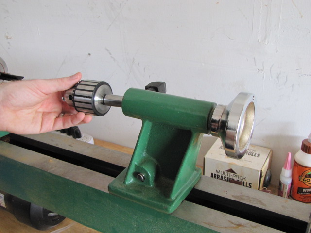 remove drill chuck from lathe tailstock