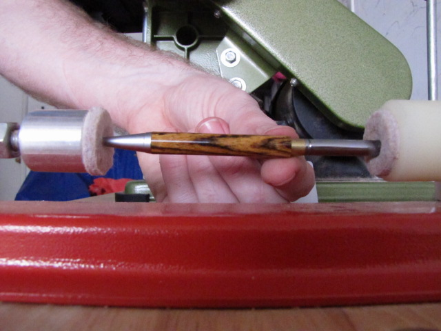 assembling the twist mechanism into the slimline pen