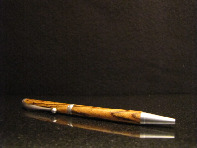 finished hand-turned wood pen