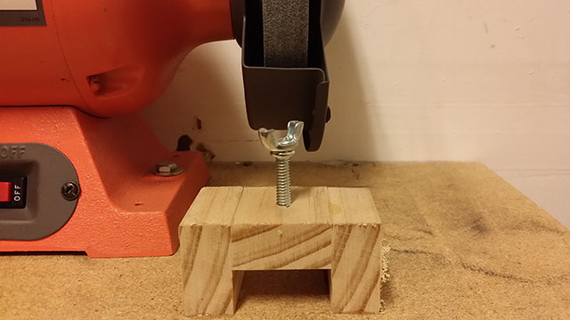 the bracket for the sharpening jig