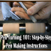Pen Turning Video: Step-by-Step Pen Making Instructions